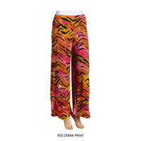 Vibrant Colorful Summer Wide-Leg Palazzo Pants - Assorted Colors