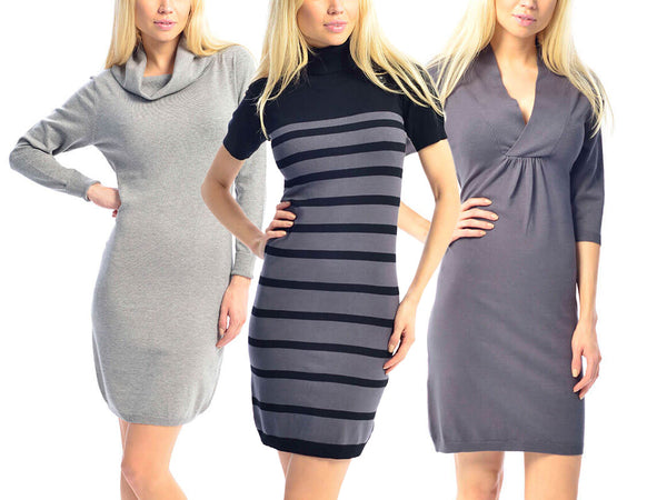 Form-Fitting Above-the-Knee Bodycon Dress - Assorted Styles