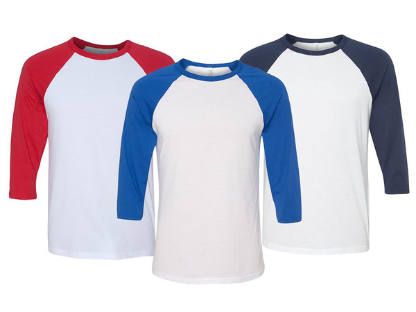 Cotton-Blend Raglan Cropped-Sleeve T-Shirt - Assorted Colors & Extended Sizes
