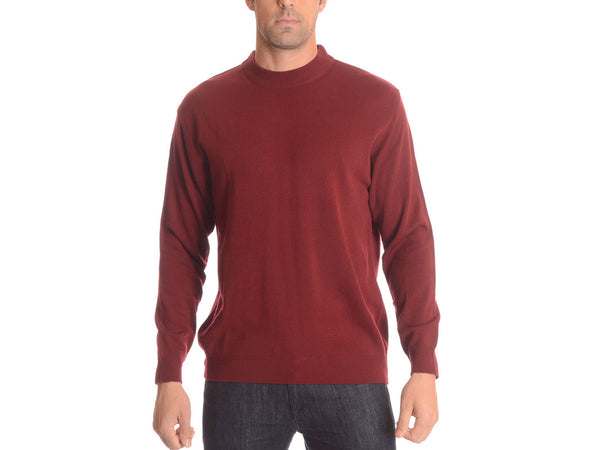 Essential Crew-Neck Sweater with Ribbed Collar, Hem & Cuffs