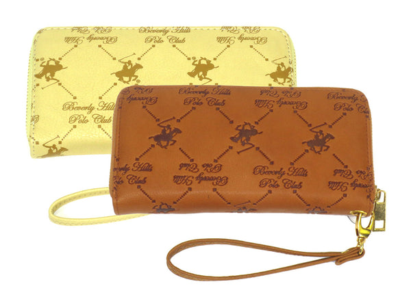 Beverly Hills Polo Club Patterned Wristlet with Removable Strap - Assorted Colors