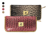 Beverly Hills Polo Club Croco-Textured Fashion Clutch - Assorted Colors