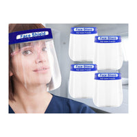 5-Pack: Full-Face Isolation Shields with Anti-Fog Splash Protection & Adjustable Fit