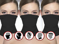 3 Pack: Breathable Multifunctional Neck Gaiter with PM2.5 Filters Neck Gaiter Face Covers with Pm2.5 filter