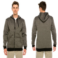 Zip-Up Hoodie with Drawstring & Large Front Pockets - Assorted Colors & Extended Sizes