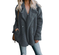Ultra-Plush & Cozy Sherpa-Style Modern Peacoat with Pockets - Assorted Colors & Extended Sizes