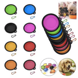 2-Pack: Collapsible Silicone Pet Bowls with Carabiners - Assorted Colors