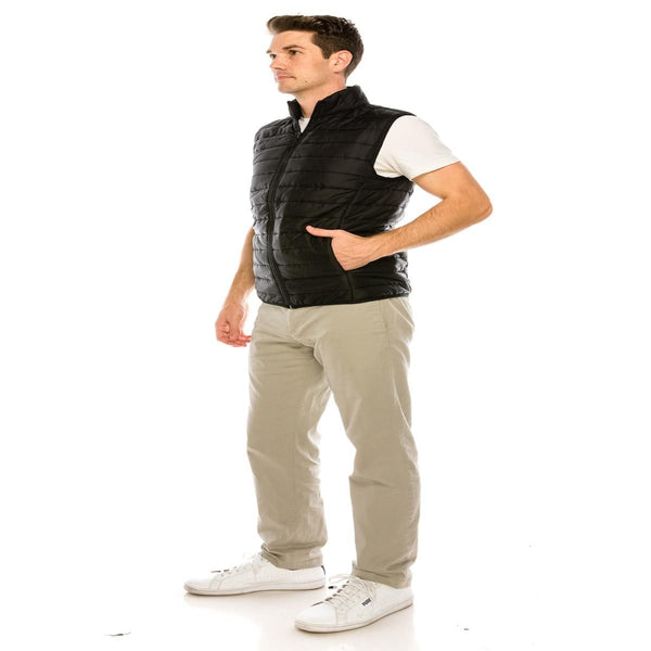 Urbantry Insulated Puffer Vest with Concealed Side Pockets - Assorted Colors