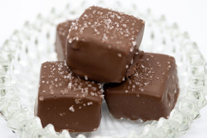 Milk Chocolate Covered Caramels with Sea Salt