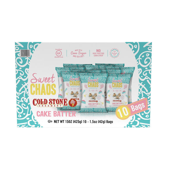 Sweet Chaos Cold Stone Cake Batter Drizzled Popcorn (1.5 oz., 10 pk.)