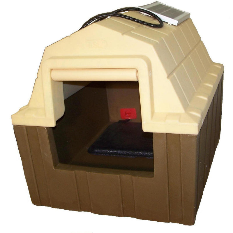 ASL Solutions Insulated DP Hunter Dog House with Floor Heater and Fan (23.5 H x 26 W x 29 H)