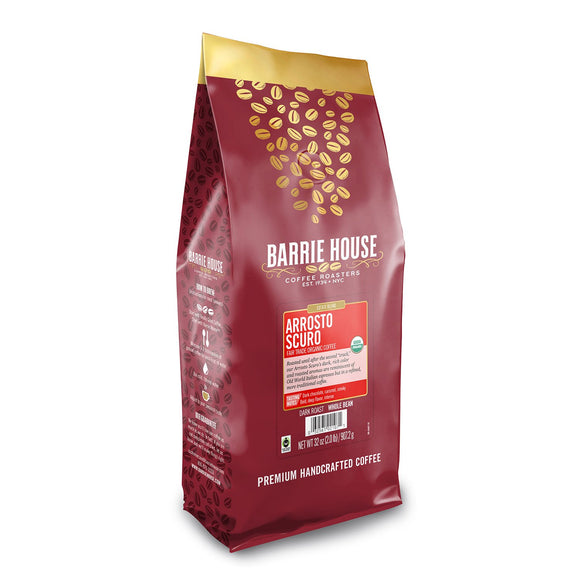 Barrie House Fair Trade Organic Whole Bean Coffee, Arrosto Scuro (32 oz.)