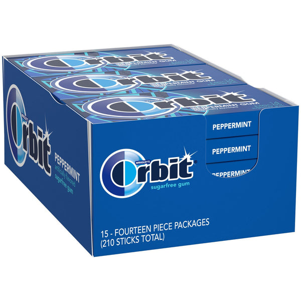 Orbit Peppermint Sugar-Free Gum (14 ct., 15 pks.)