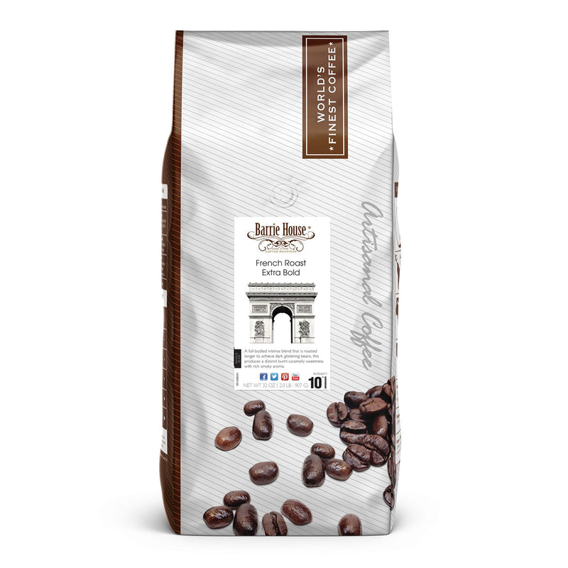 Barrie House Whole Bean Coffee, Extra Bold French Roast (32 oz.)
