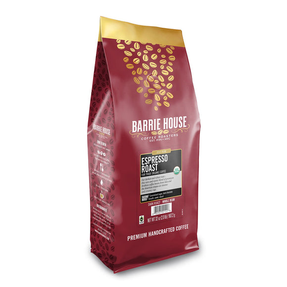 Barrie House Fair Trade Organic Whole Bean Coffee, Espresso (32 oz.)