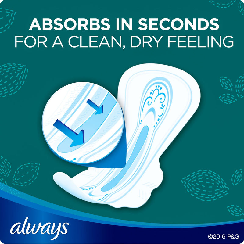 Always Ultra Thin, Size 5, Extra Heavy Overnight Pads With Wings, Unscented (72 ct.)