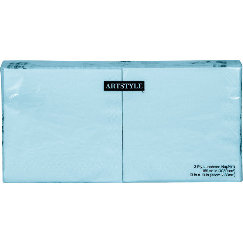 "Artstyle Pastel Blue Napkins Twin Stack, 6.5"" (200 ct.)"