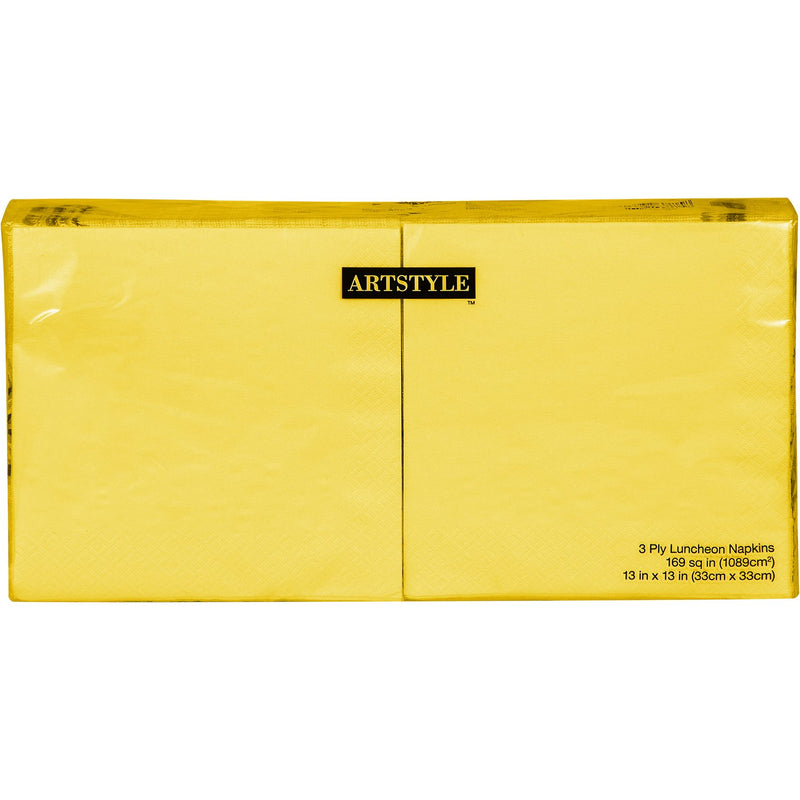 "Artstyle Yellow Napkins Twin Stack, 6.5"" (200 ct.)"