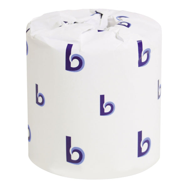 Boardwalk - Bathroom Tissue, 2-Ply, White, Roll Length 156.25' - 500 Sheets/Roll -96 Rolls/Carton Toilet Paper