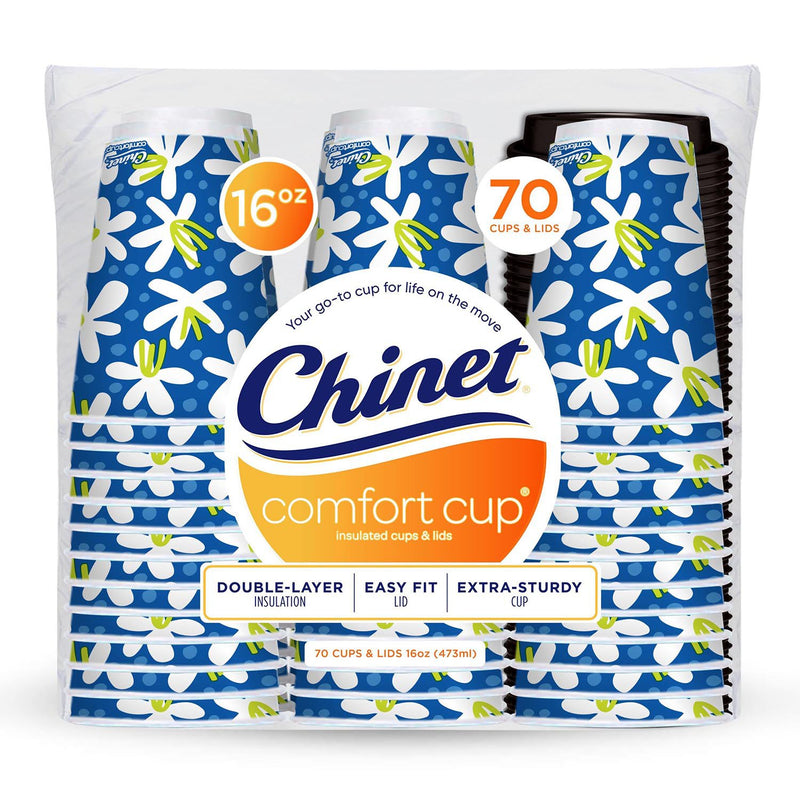 Chinet Comfort Cup Hot Cups & Lids (16 oz., 70 ct.)