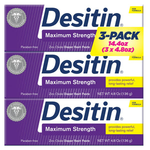 Desitin Maximum Strength Diaper Rash Paste (4.8 oz., 3 pk.)