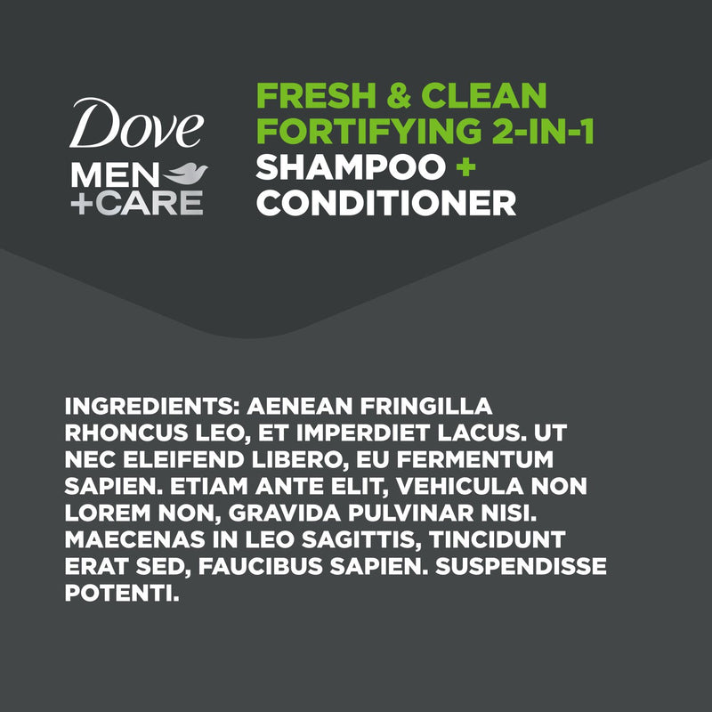 Dove Men + Care 2-in-1 Shampoo + Conditioner, Fresh and Clean (40 fl. oz.)