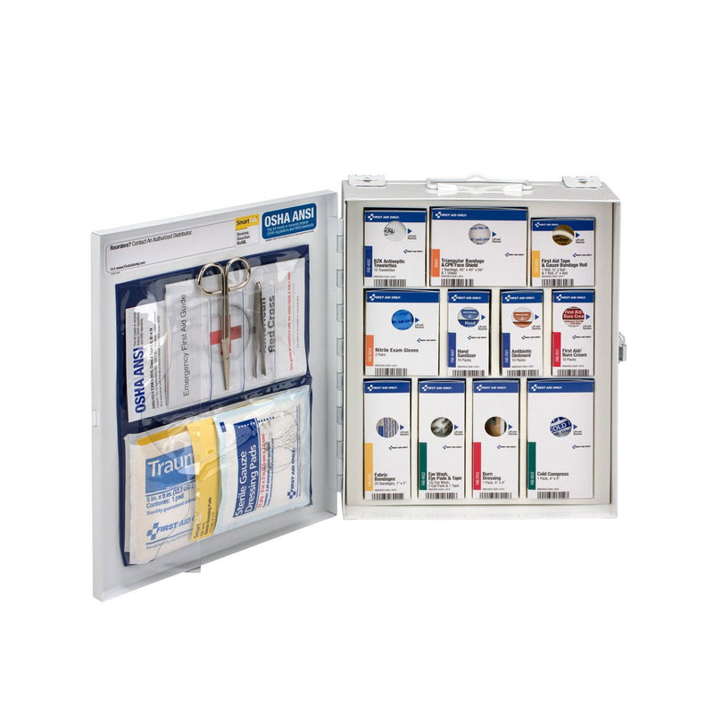 First Aid Only 25 Person Smart Compliance First Aid Cabinet, Class A