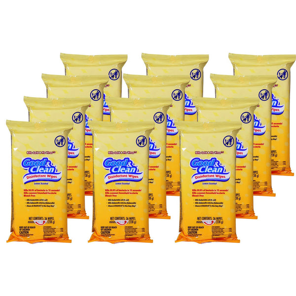 Good & Clean Disinfecting Wipes (432 Total Wipes; 36 per pk., 12 pk.)