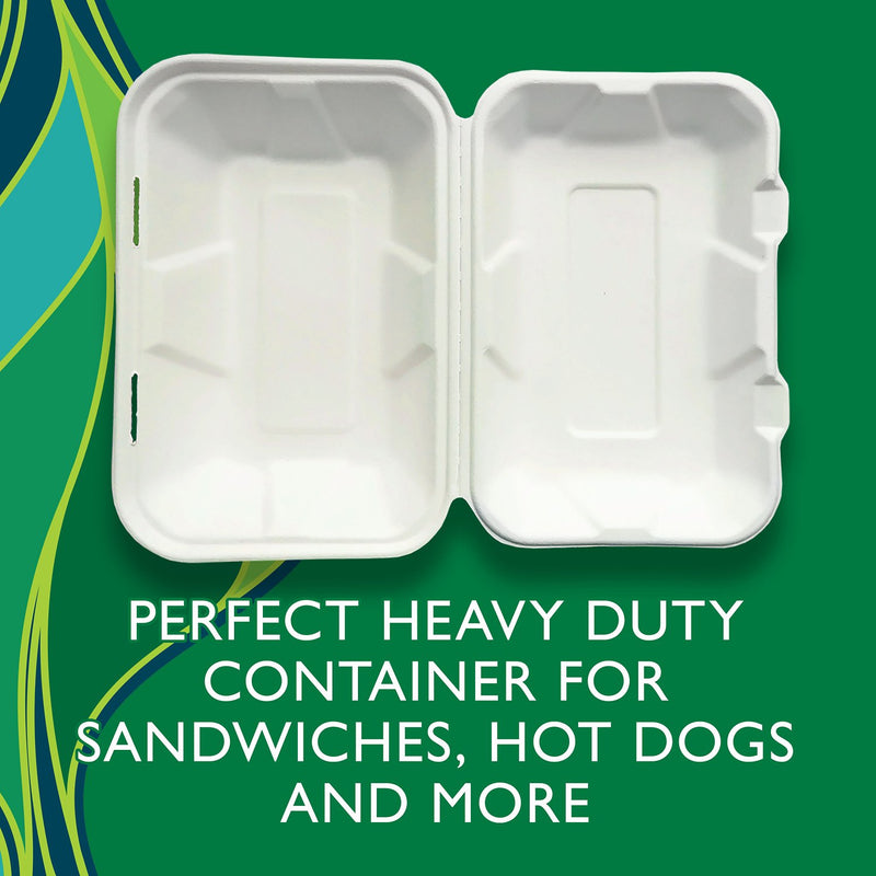 "Hefty ECOSAVE Hoagie Hinged Lid Container (9"" x 6"", 75 ct.)"