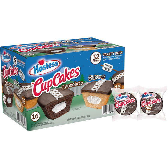 Hostess S'mores and Chocolate CupCakes Variety Pack (32 ct.)