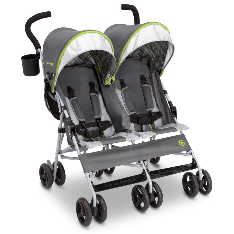 Jeep Scout Double Stroller by Delta Children (Choose Your Color)