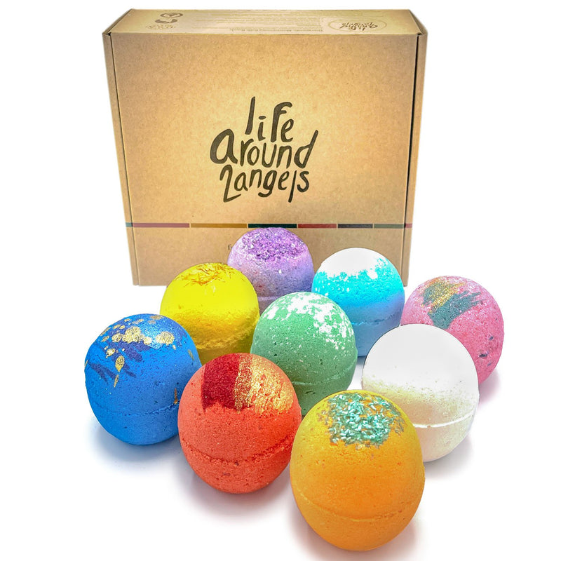 Lifearound2angels Bath Bomb Set (6 oz., 9 pk.)
