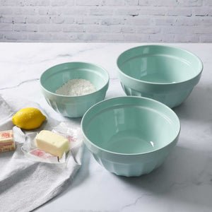Martha Stewart 3-Piece Martha Blue Round Bowl Set