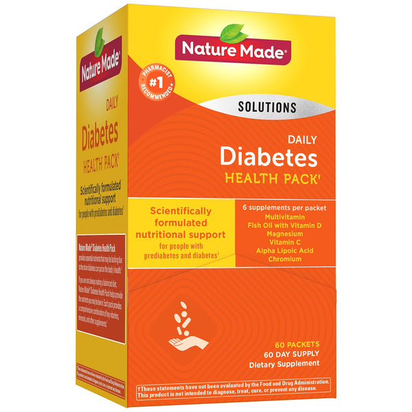 Nature Made Daily Diabetes Health Pack Dietary Supplement (60 pk.)