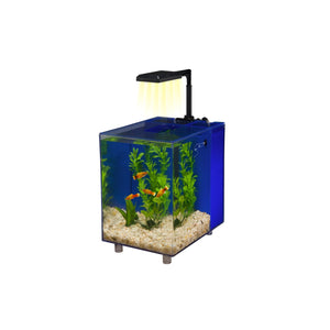 Penn Plax Prism Desktop Aquarium Kit, 2-Gallon (Blue)