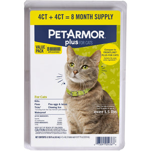 PetArmor Plus Flea and Tick Protection for Cats, 8 ct.