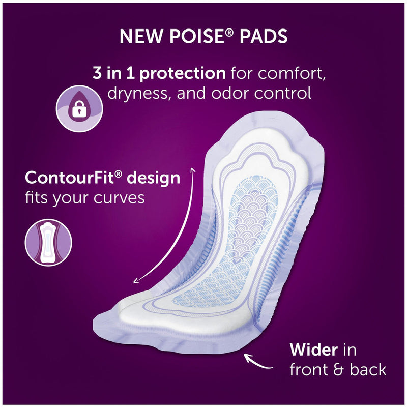 Poise Incontinence Pads, Moderate Absorbency, Regular (252 ct.)