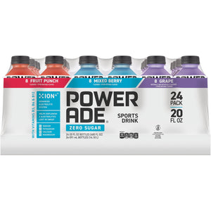 Powerade Zero Sports Drink Variety Pack (20oz / 24pk)