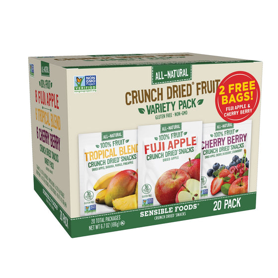 Sensible Foods Crunch Dried Fruit Variety Pack (0.34 oz., 20 ct.)