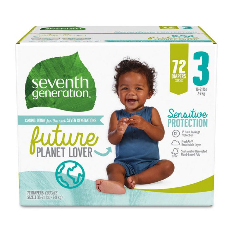 Seventh Generation Sensitive Protection Baby Diaper (Choose Your Size)