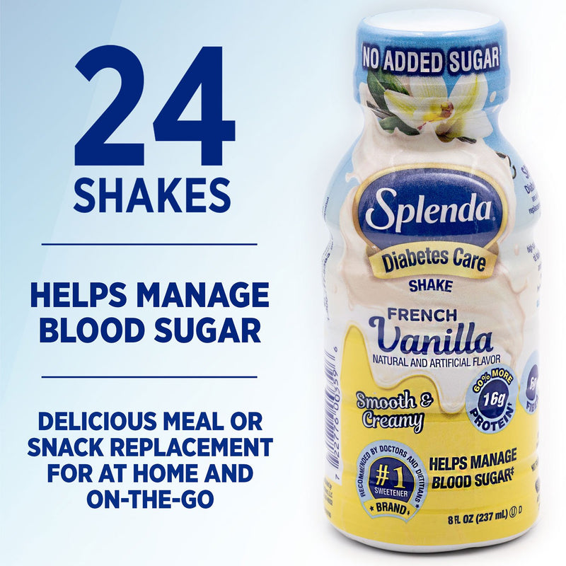 Splenda Diabetes Care Shakes, French Vanilla, (8 fl., oz., 24 pk.)