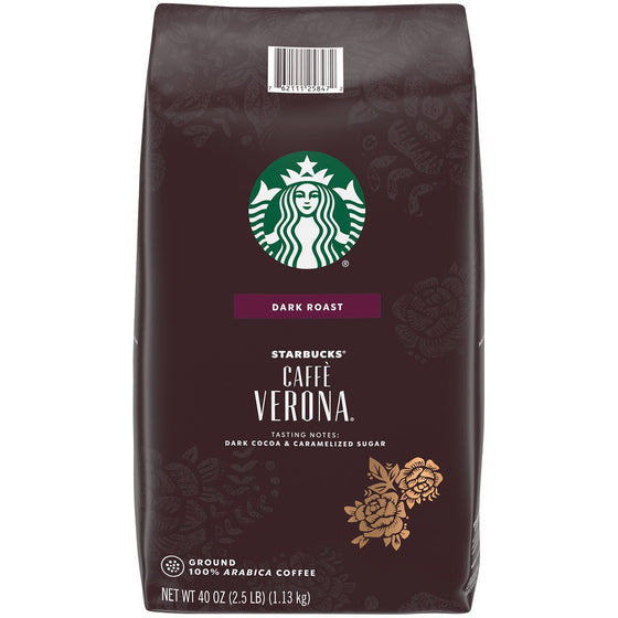 Starbucks Caffe Verona Ground Coffee, Dark Roast (40 oz.)