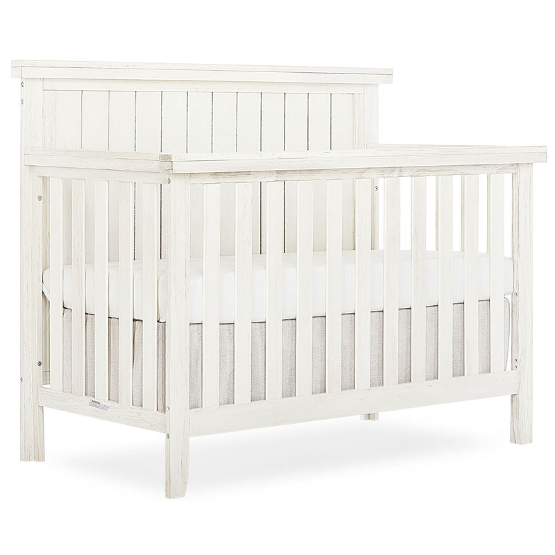 Sweetpea Baby Red Wood 4-in-1 Convertible Crib, Weathered White