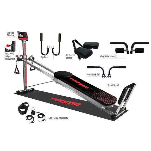 Total Gym XL7 Home Gym With Workout DVDs