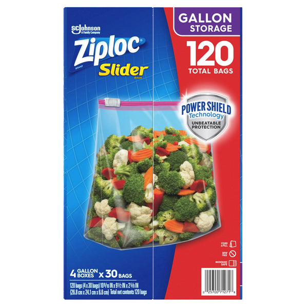 Ziploc Storage Slider Gallon Bags (120 ct.)
