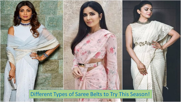 Different Types Of Saree Belts To Try This Season