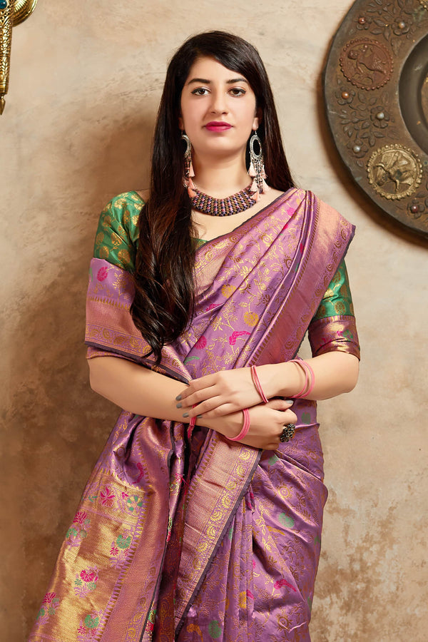 Taffy Banarasi Silk Saree - Maheesha Silk by Manjubaa