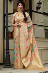 Medow Super Soft Banarasi Silk Saree - Premium Collection by Manjubaa