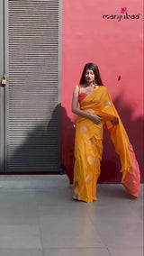 Yellow Kanjivaram Silk Saree (Maya)