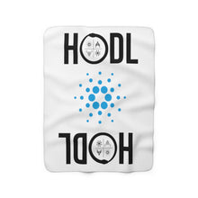 Load image into Gallery viewer, HODL Cardano Sherpa Fleece Blanket